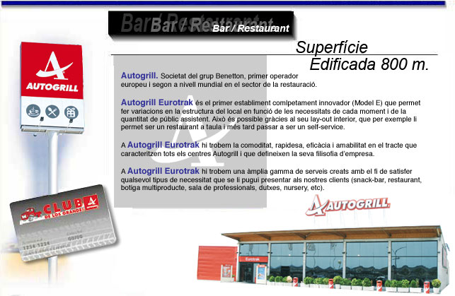 Bar restaurant Autogrill